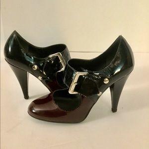 Michael Kors 2-Tone Buckle Heels